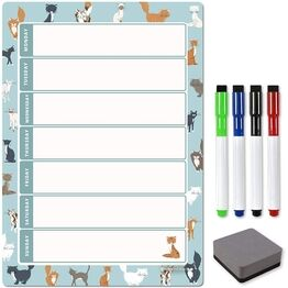 Magnetic Weekly Planner and Organiser - Portrait - CAT