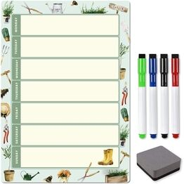Magnetic Weekly Planner and Organiser - Portrait - GARDEN