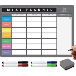 Magnetic Weekly Meal Planner and Menu - Signature Collection (VARIOUS COLOURS AVAILABLE)