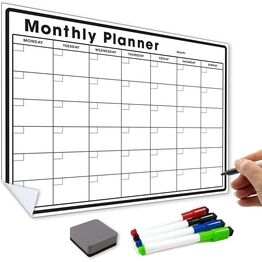 Removable, Reusable, Re-Adhesive Monthly Planner and Calendar