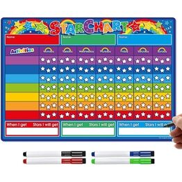A3 Magnetic Reward and Star Chart for Children