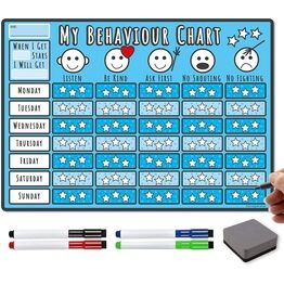 A3 Magnetic Reward Chart for Encouraging Good Behaviour