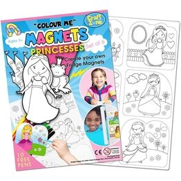 Children's Colour-In Magnet Craft Set - Princess