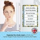 Magnetic Weekly Planner and Organiser - Portrait - LEMON GARDEN additional 14