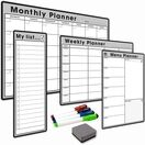 4 Pack - A3 Monthly Calendar, A4 Weekly Planner, A4 Menu Planner, Slim A3 My List - BUNDLE ONE additional 3