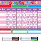 A3 Magnetic Reward and Star Chart for Children (VARIOUS COLOURS AVAILABLE) additional 15