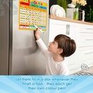 A3 Magnetic Reward and Star Chart for Children (VARIOUS COLOURS AVAILABLE) additional 40