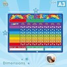 A3 Magnetic Reward and Star Chart for Children (VARIOUS COLOURS AVAILABLE) additional 2