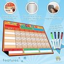 A3 Magnetic Reward and Star Chart for Children (VARIOUS COLOURS AVAILABLE) additional 45