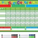 A3 Magnetic Reward and Star Chart for Children (VARIOUS COLOURS AVAILABLE) additional 50