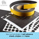 Magnetic Circles - 40mm Diameter Magnetic Circles - Self-Adhesive additional 10