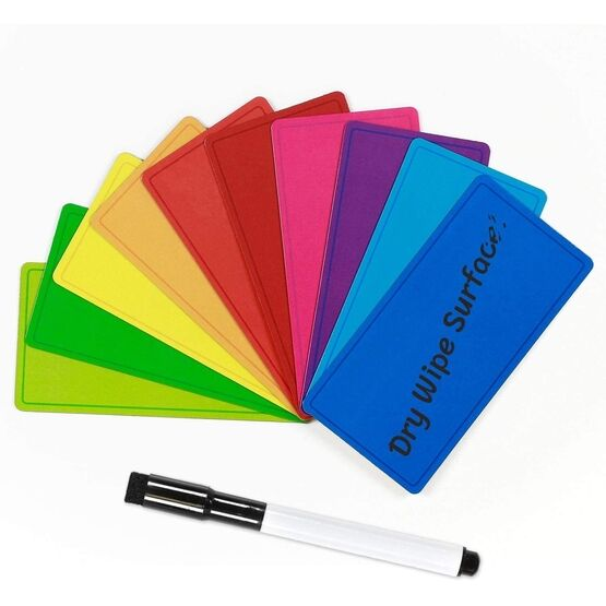 Magnetic Dry Wipe Labels (Rounded) (VARIOUS COLOURS AVAILABLE)