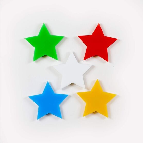 Magnetic Stars - Acrylic Stars for Home, Office, Fridge Use - 10 PACK